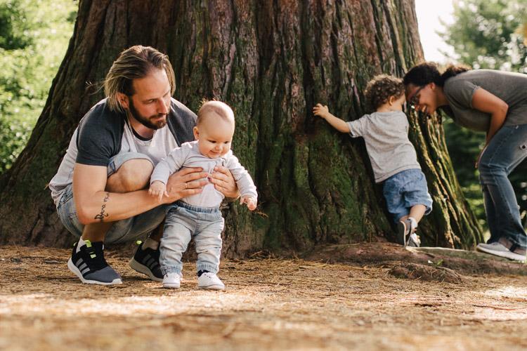 Familienfotos wie aus dem Leben