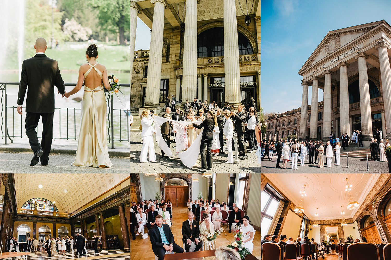 Kurhaus Wiesbaden Hochzeitsfotograf Hochzeit Hochzeitslocation