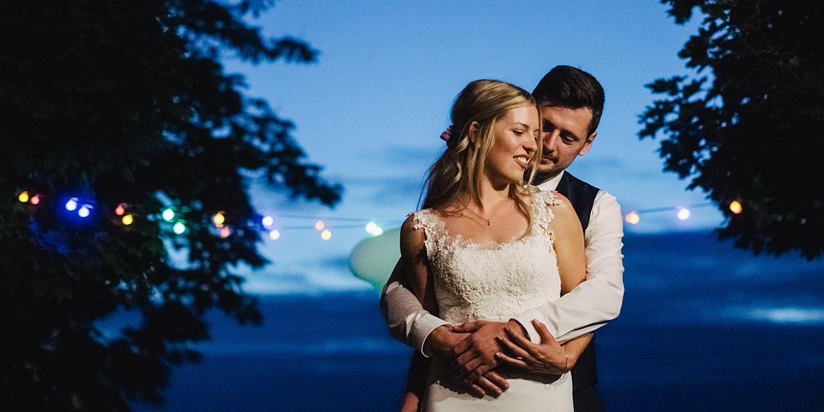 Hochzeitsfotos bei Nacht